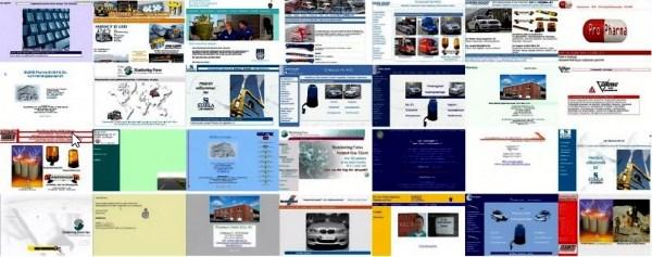 Webseiten-Collage